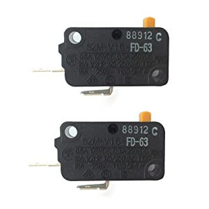 LONYE SZM-V16-FD-63 Microwave Oven Door Micro Switch for LG GE Starion Microwave RE1(Normally Open)(Pack of 2)