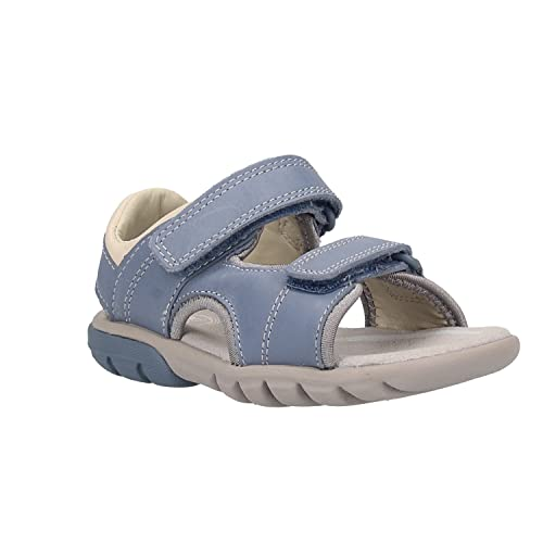 e4ed4fa64f Clarks Rocco Wave Kid Leather Sandals in Denim Blue: Amazon.co.uk ...