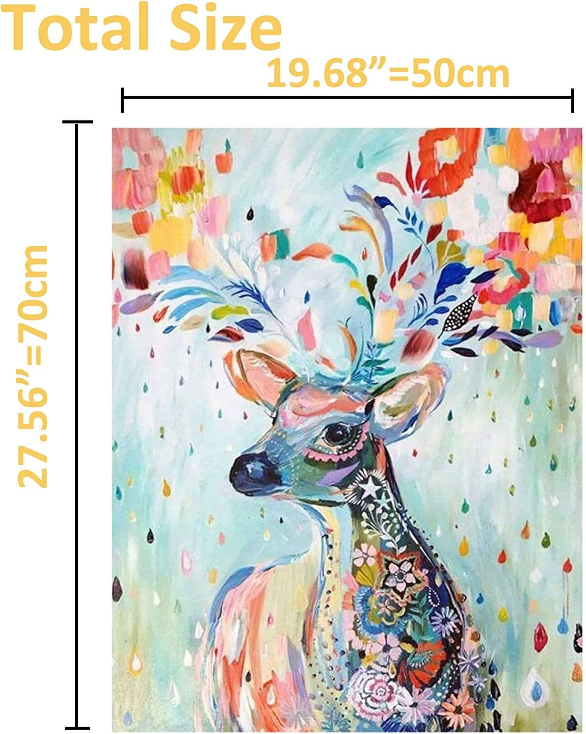 Colorful Deer Jigsaw Puzzles for Adults Children 1000 Pieces Large Size Classic Unique Home Decorations and Gifts