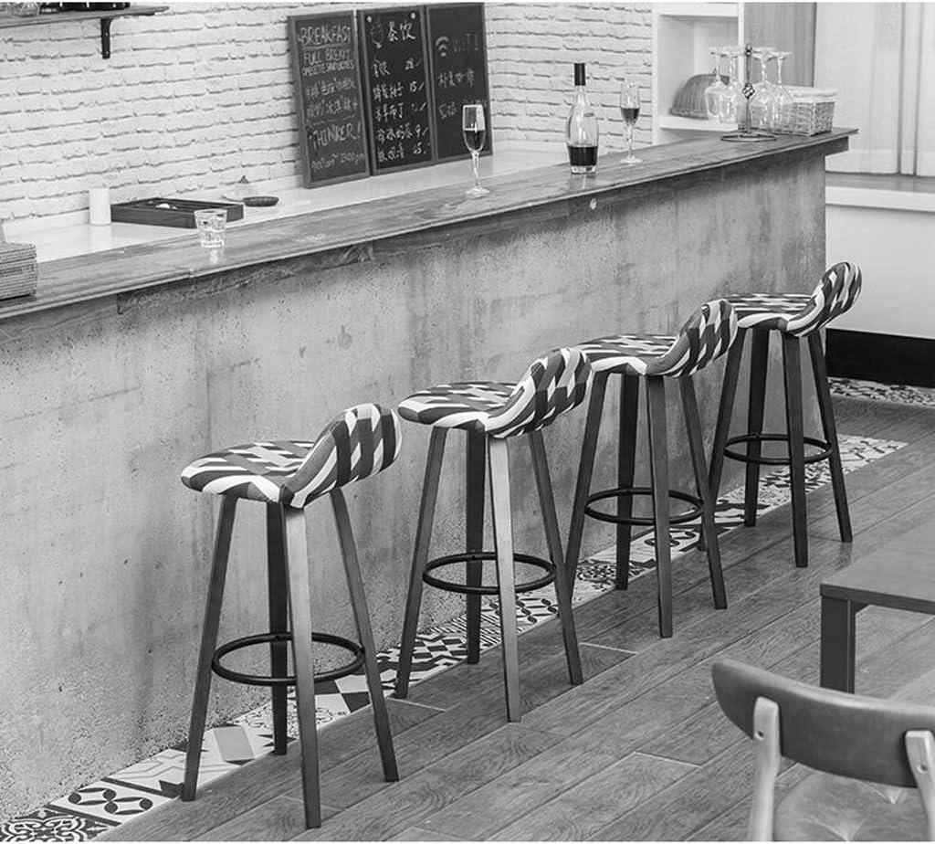 Sillas de comedor Taburete de Madera Maciza Tela Lavable Cubierta de Asiento Mesa de tocador Silla de Estudio Taburete de Bar Silla de la cafetería (Color : K) H