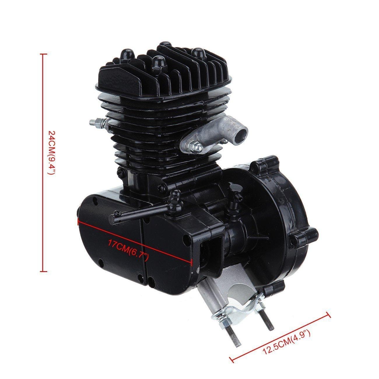 Seeutek 80cc Kit de motor para bicicleta tipo bicimoto. Motor de gasolina de 2 tiempos. Kit de mejora de bicicleta con velocímetro.: Amazon.es: Coche y moto