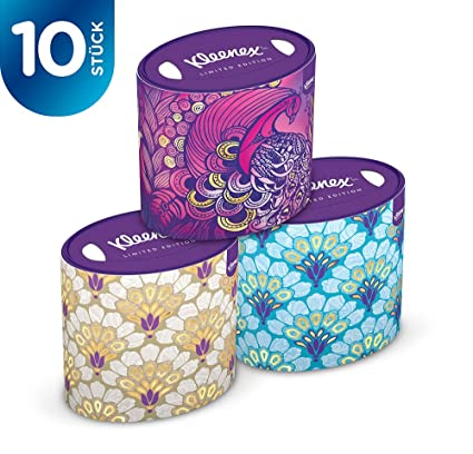Kleenex - Caja oval de decoración, paquete de 10 unidades (toallitas 10 x 64