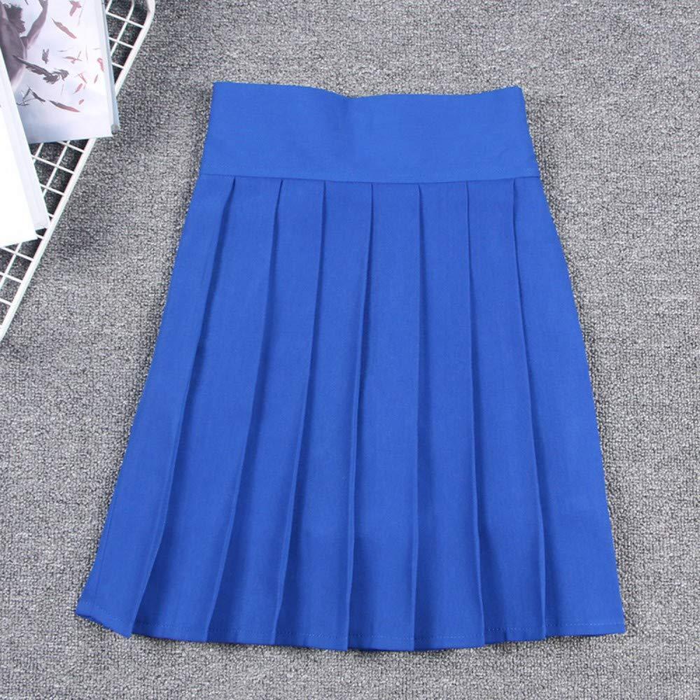 HEHEAB Falda,Falda Plisada Linda Azul Japonesa Cosplay Uniforme De ...