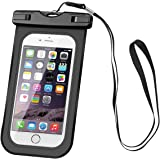 "AOMAIS Waterproof Case, Universal Waterproof Pouch Cell Phone Dry Bag for Apple iPhpone 6, 6S, 6S Plus, Samsung S6, S7, Huawei P8, P9 up to 6""(Black)"