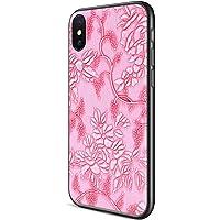 Sankmi PU Leather Cute Slim Luxury Vintage Emboss Flower Floral Pattern & Hard Back Protective Case (Pink)