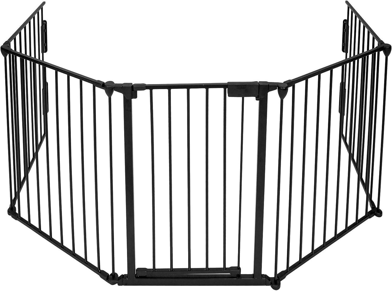noir 85.5cm - 200cm Dreambaby Barri/ère de s/écurit/é de trois panneaux Newport Adapte-Gate