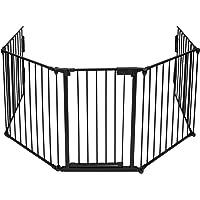 TecTake 402991 - Cancelletto di Sicurezza per Camino 300cm, 5 Elementi incl. Porta, Per Bambini fino ai 2 Anni di età