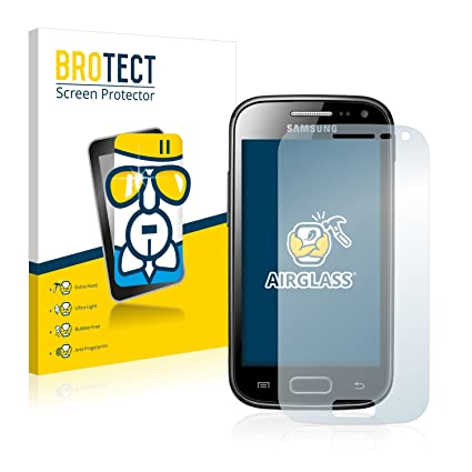 8aa40a333e0 BROTECT Protector Pantalla Cristal para Samsung Galaxy Ace 2 I8160 -  Cristal Vidrio 9H, AirGlass