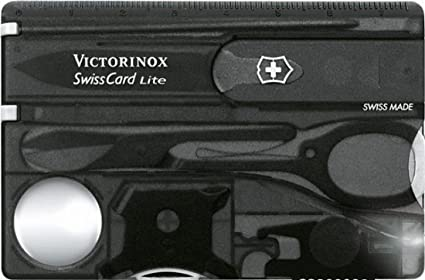 Victorinox Swiss Card Lite Onyx Anthracite Translucent Blister