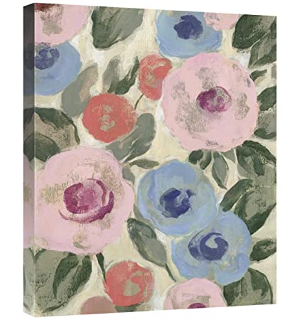 Parisian Floral I Pastel Giclee Stretched Canvas Artwork 30 x 20 Global Gallery Silvia Vassileva