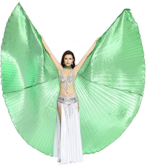 UK Close or Open Professional Wings Belly Dance Costume Isis Wings Stick Bag