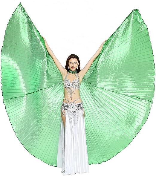 Dance Fairy Danza del Vientre Alas de Isis, Verde(con Palos ...