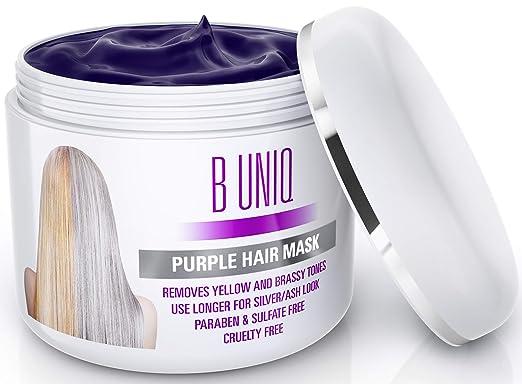 1. B UNIQ Purple Hair Mask for Blonde, Platinum & Silver Hair