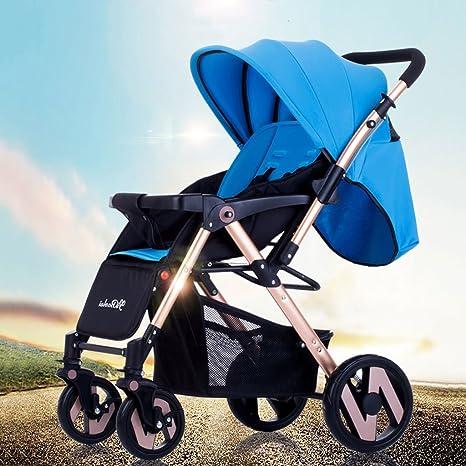 Sillas de paseo Cochecito de bebé Paraguas ligero Coche de cuatro ruedas Colisión Plegable Puede estar