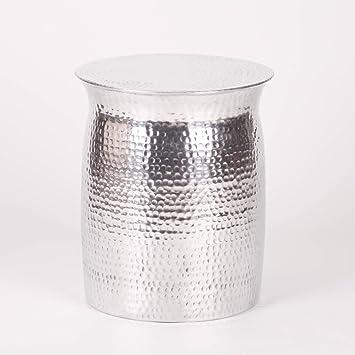 Maison Café À Table Livre Tabouret Lampe Martelé Côté De Aluminium nPXN8Z0Okw