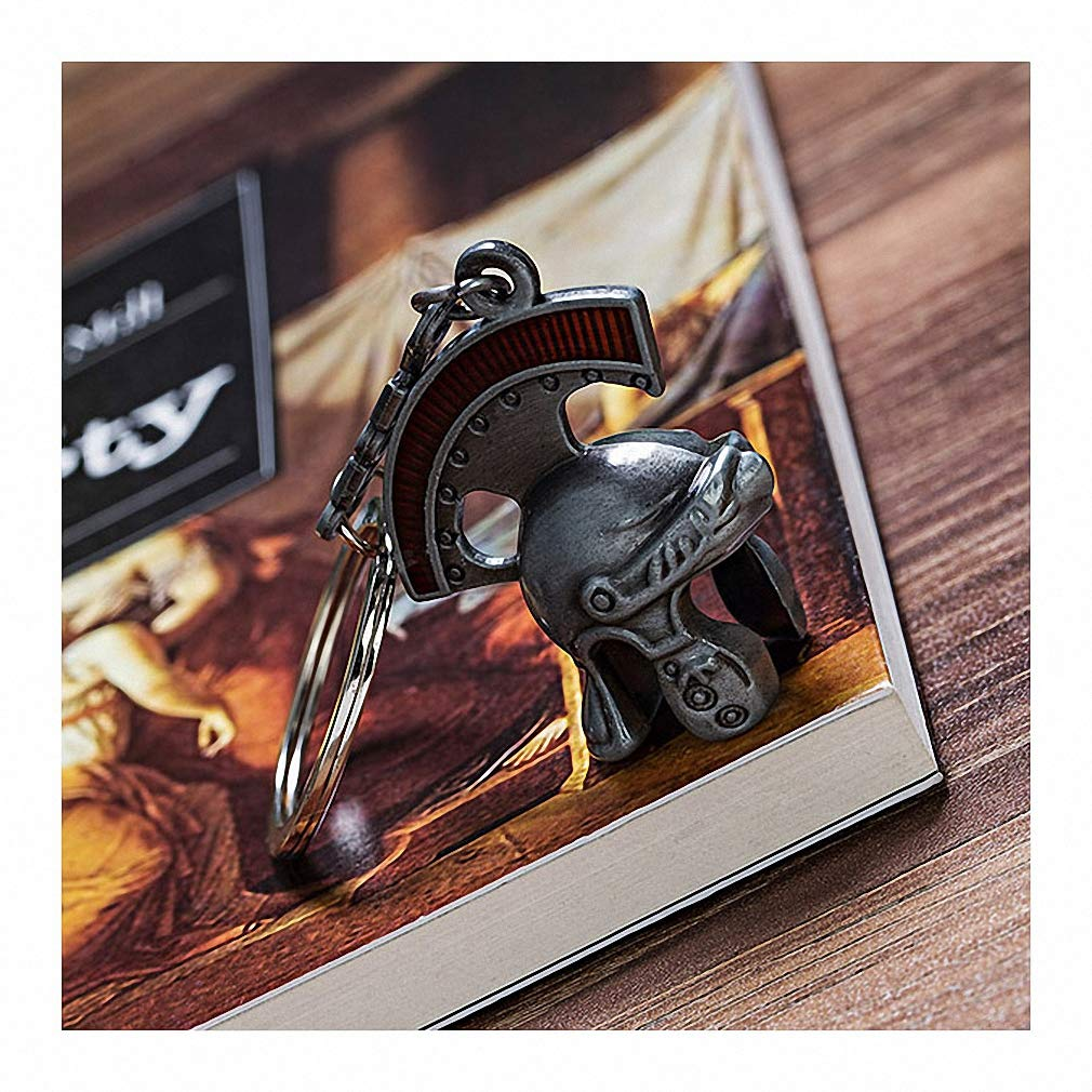 Womens Mens Keychain Vintage Italia Roman Knight Helmet Keychain Retro Roman Helmet Key Chain Roman Centurion Helmet Key Ring as a Gift 4