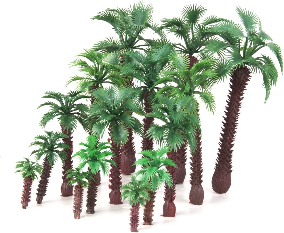 20PCS Trees Model HO N Scale Train Railway Wargame Scenery Park Layout
