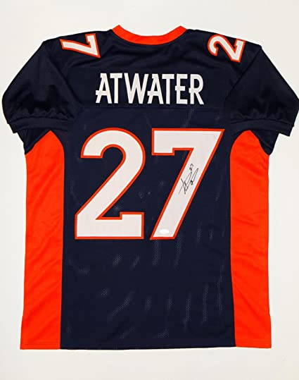 Autographed Steve Atwater Jersey Blue W Orange Pro Style Auth  free shipping