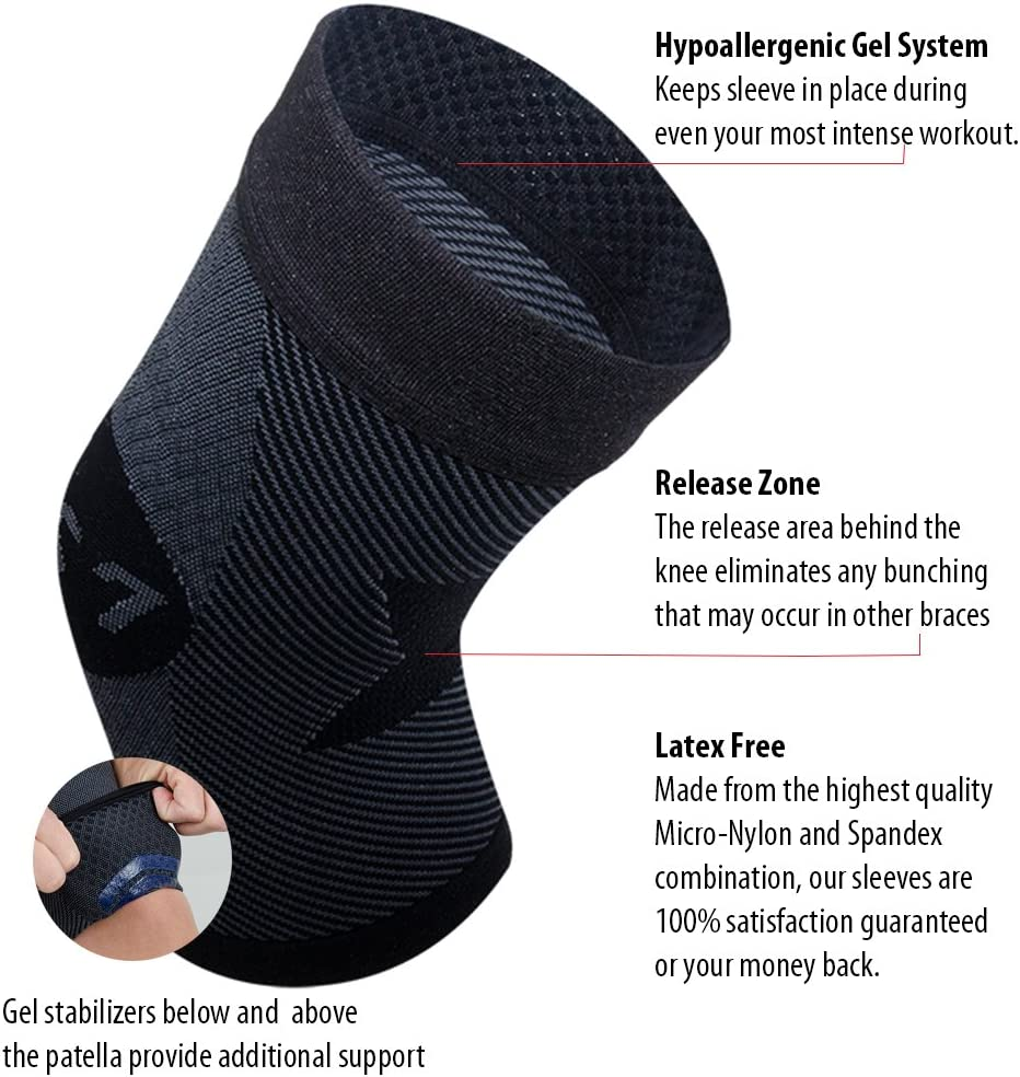 stabilizes The Patella Injury Recovery and relieves Knee Pain from Runners Knee Jumpers Knee Single or Pair OS1st KS7 Performance Knee Brace Arthritis Pain /& Patellar tendonitis