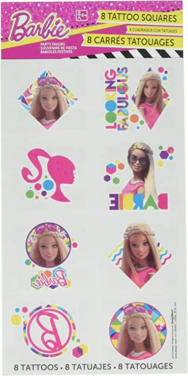 amscan Tattoo Favors | Barbie Sparkle Collection | Party Accessory