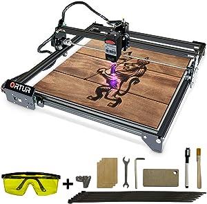 ORTUR Laser Master 2, Laser Engraver CNC, Laser Engraving Cutting Machine, DIY Laser Marking for Metal with 32-bit Motherboard LaserGRBL(LightBurn), 400x430mm Large Engraving Area (7w)