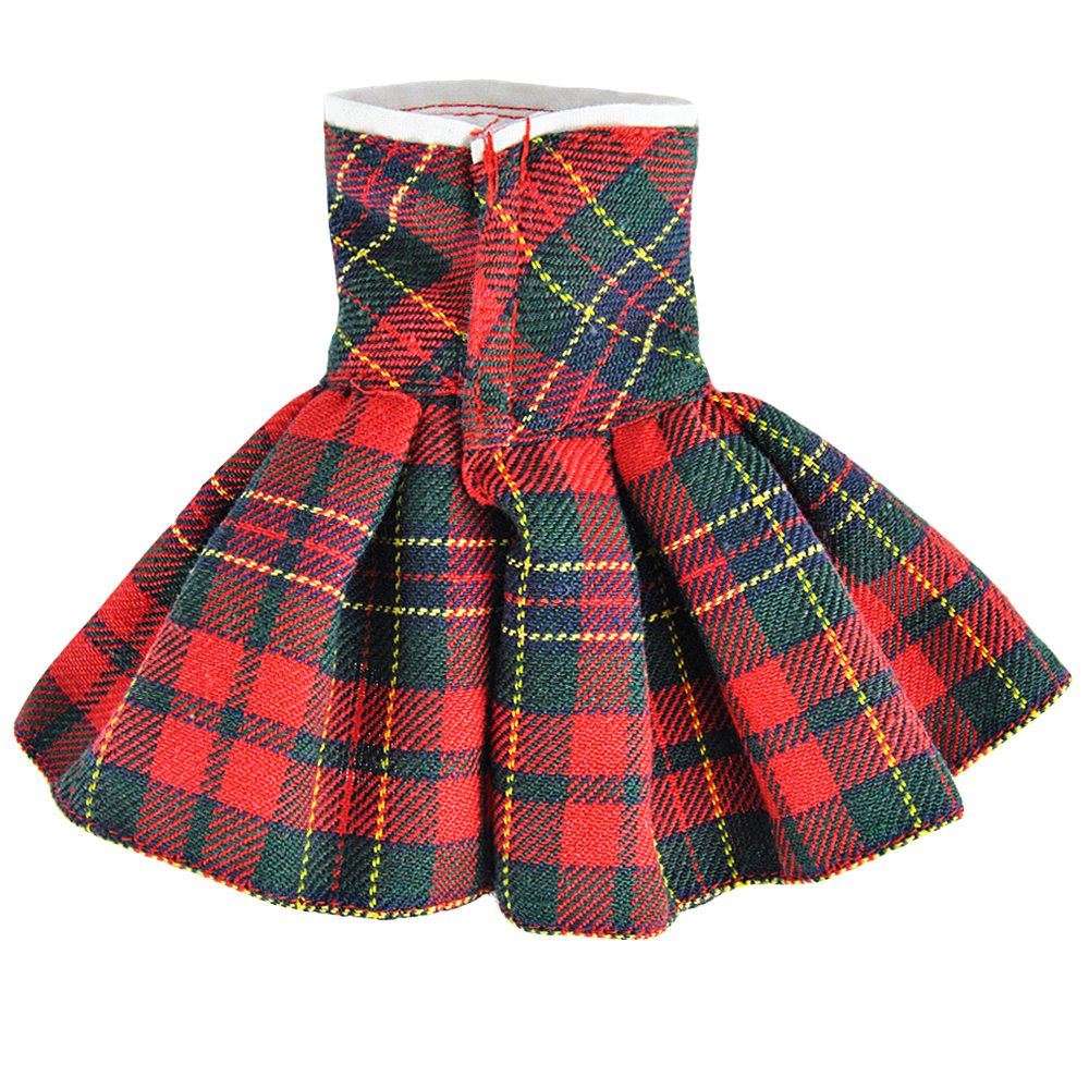 E-TING Claus Couture Clothing for Elf on the Shelf (Red-Green Plaid Dress) Doll is not included
