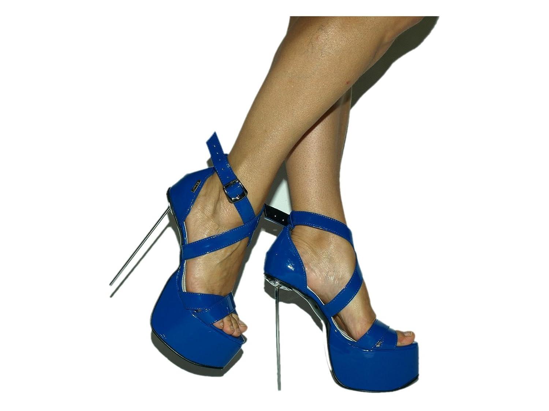 Lack pu Sandals High Heel 20cm Stahl Metal Bolingier Poland Größe 38-47FS1420  | Feine Verarbeitung