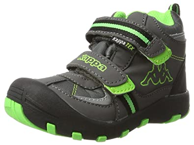 Kappa Unisex-Kinder Perry Mid Tex Kids Klassische Stiefel, Grau (Anthra/Green 1330), 28 EU