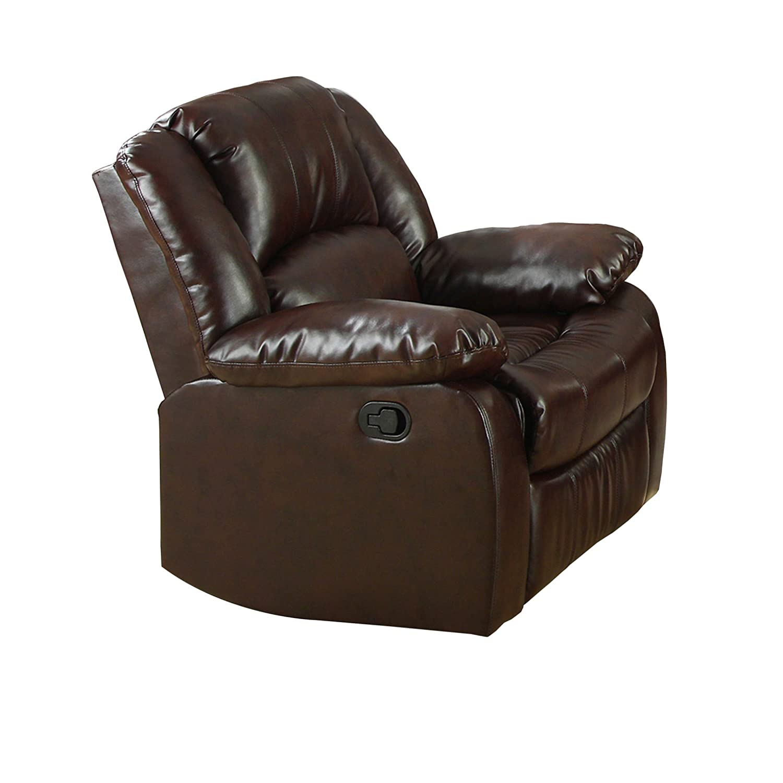 Strange Amazon Com Furniture Of America Poulanc Bonded Leather Bralicious Painted Fabric Chair Ideas Braliciousco