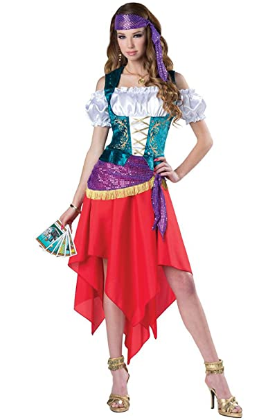Amazon.com: Incharacter Mystical Gypsy adulto traje-: Clothing