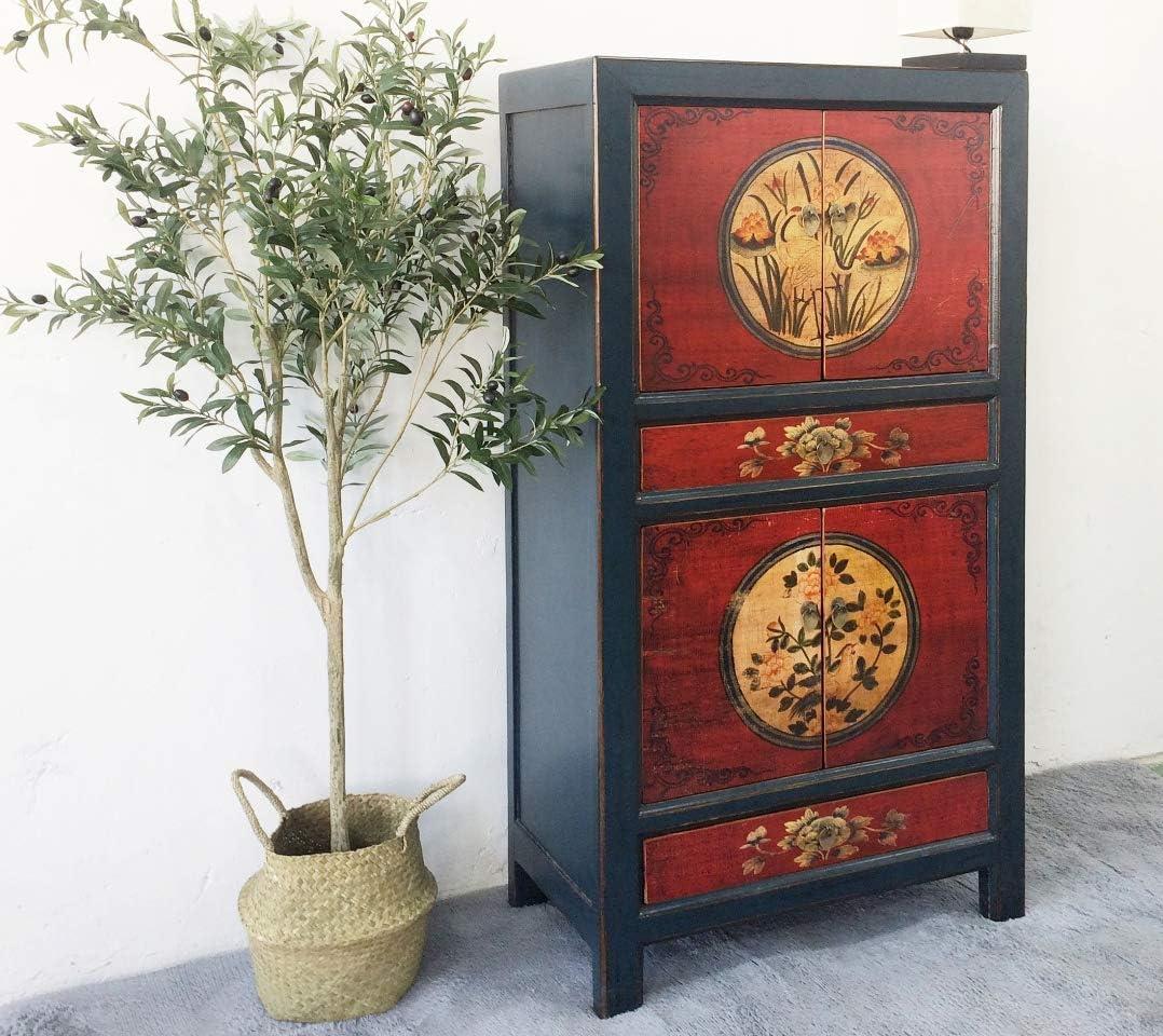 Opium Outlet Chinesischer Vintage Schrank Hochzeitsschrank Rot