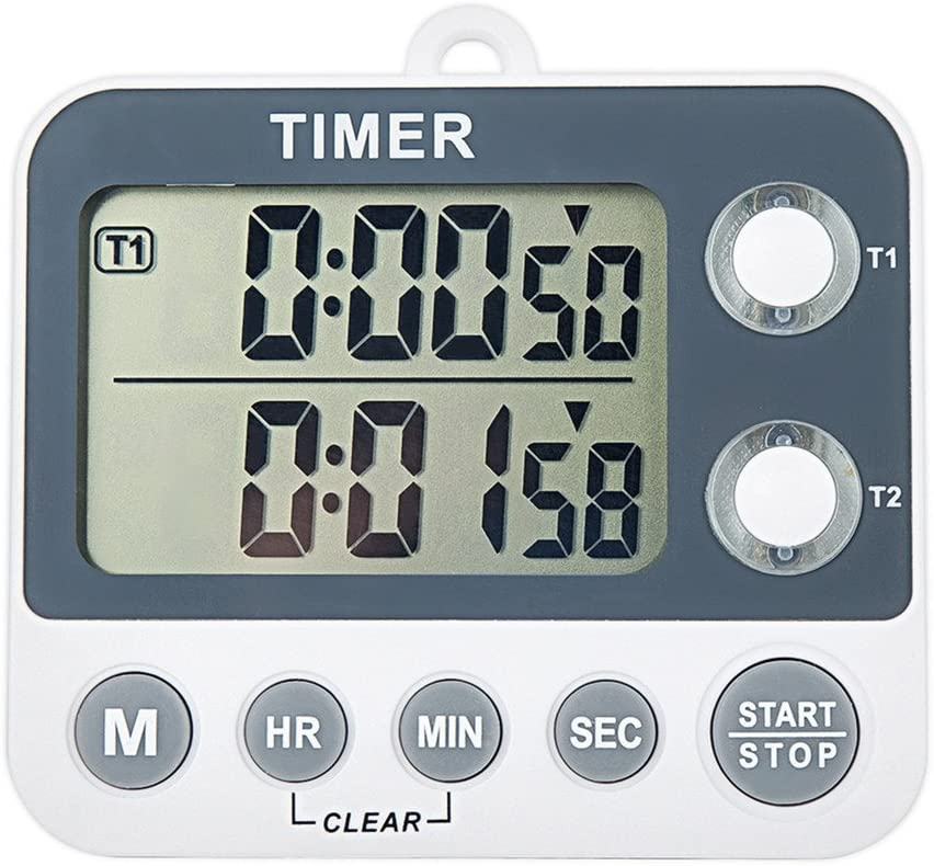 Digital Kitchen Countdown Timer Magnetic Large Screen Clock 2 Channel Groups 99 hours Laboratory