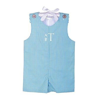 Dovie Jane Personalized Blue Toddler Jon Jon Boys Size 9m-3T