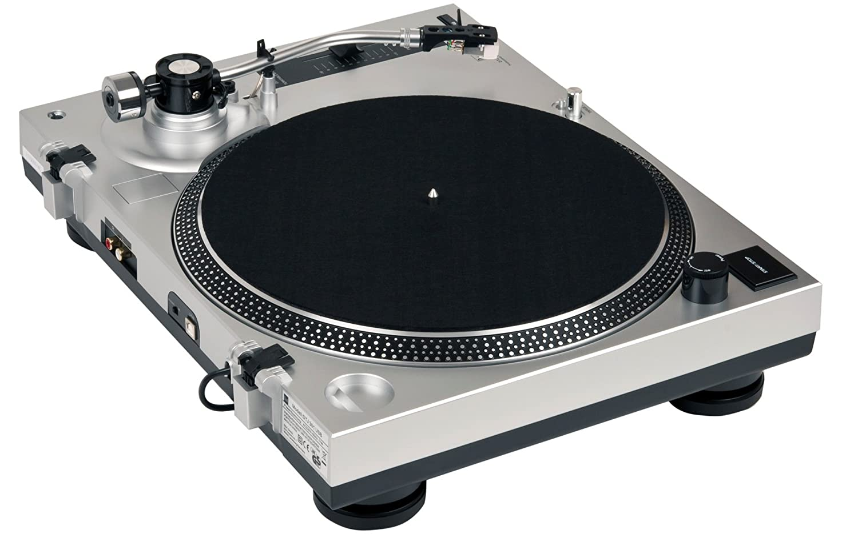 Dual DTJ 301 USB Tocadiscos para DJ (33/45 U/min, control de velocidad, sistema fonocaptor magnético, iluminación de agujas, cable USB), color gris ...
