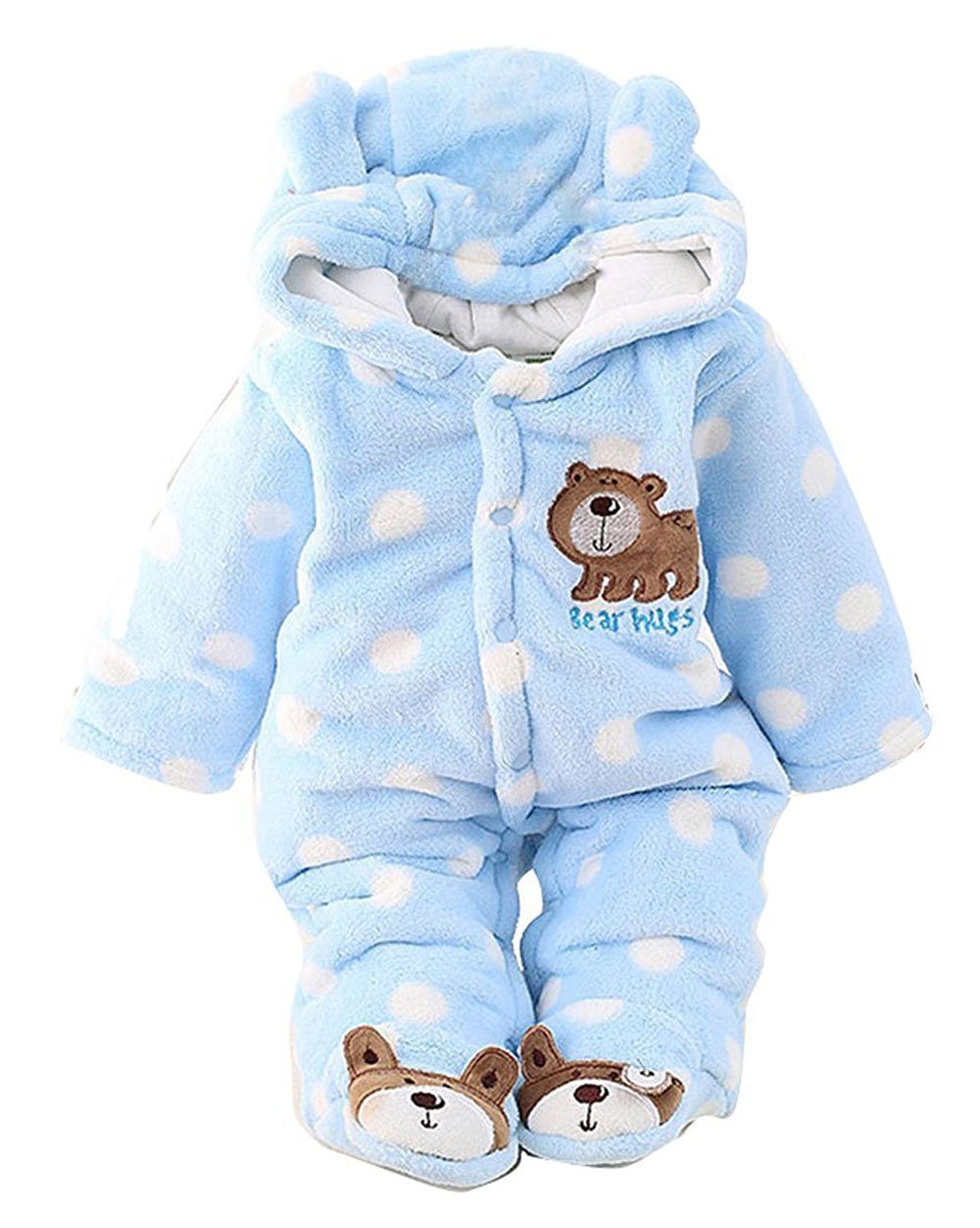 C&M Baby Jumpsuit Outfit Hoody Coat Winter Infant Rompers Toddler Clothing Bodysuit