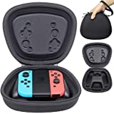 Sisma Pouch Fit for Official Nintendo Joy Con Handy Grip with Switch JoyCon Controllers, Heavy Duty and Shock Absorbing Protection Hard Case - Black