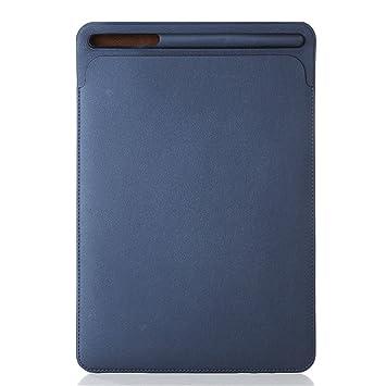 Pinhen Funda Protectora para iPad Pro 10.5 Sleeve - Pro 10.5 Pulgada Maletín de Cuero Cover Case con Soporte Incorporado de Apple Pencil (10.5, Blue)