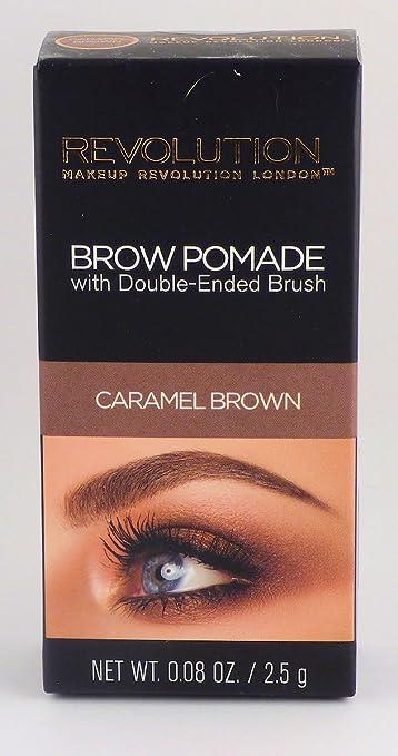 ff49d7e9f6e Amazon.com : Makeup Revolution Eyebrow Brow Pomade With Brush, Caramel  Brown : Beauty