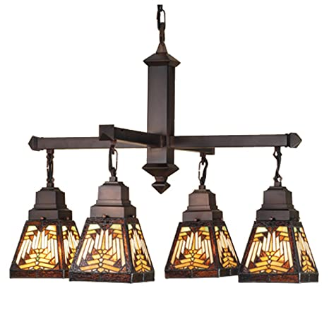 4 light nuevo mission chandelier stained glass chandelier amazon 4 light nuevo mission chandelier aloadofball Gallery