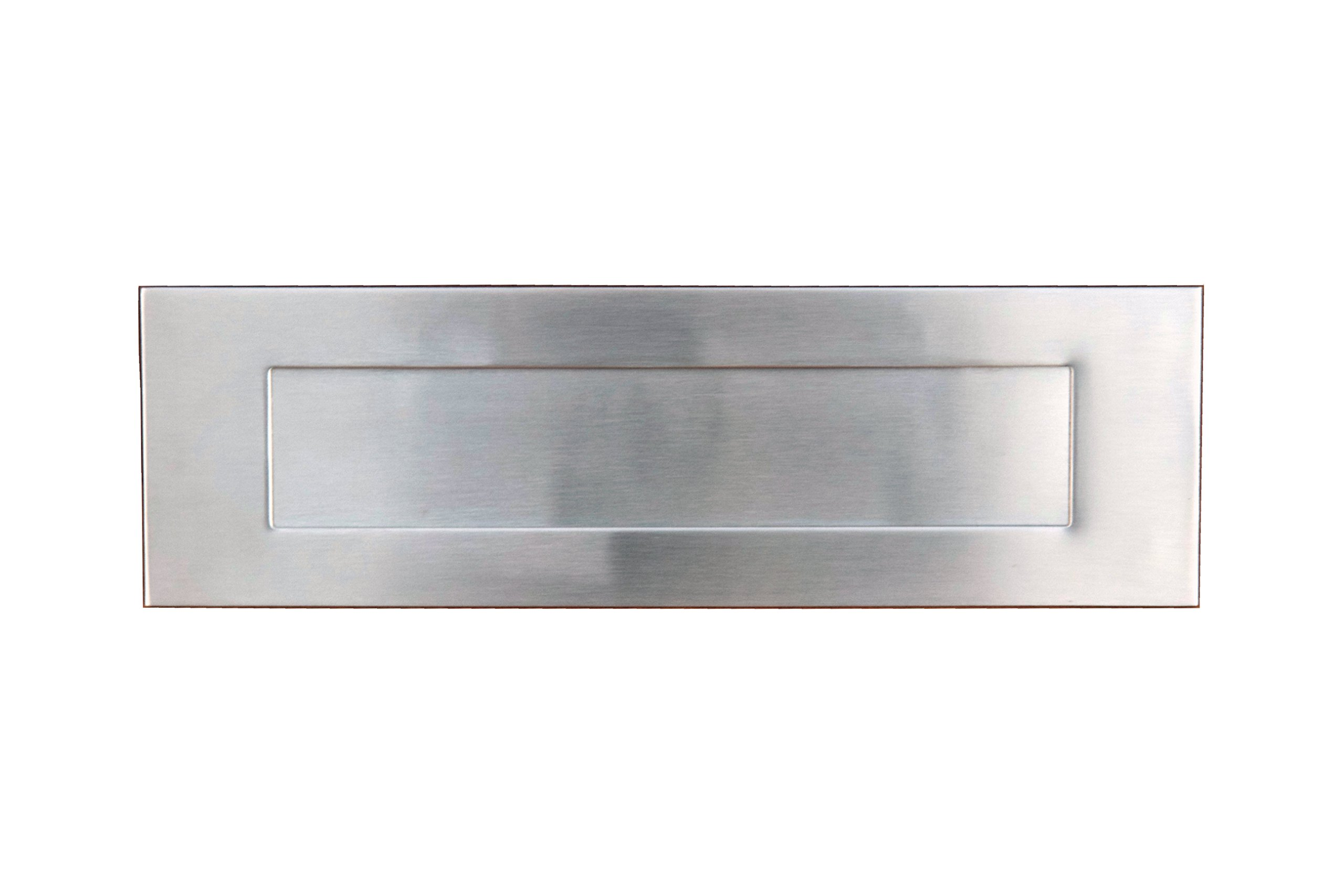 Stainless Steel Wall Mount Front Side Door Mail Slot, Letter Box Plate Compatible With Any Door Type, 13 in. W x 4 in. H