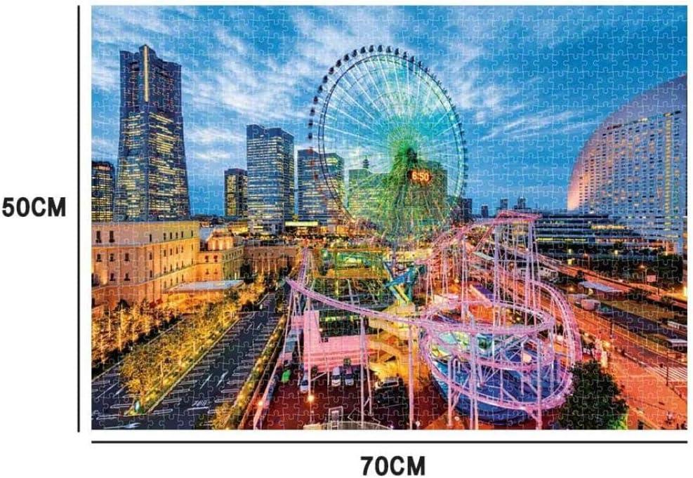 Gbksmm Großes Puzzlespiel Erwachsene Puzzlespiele Kinderpuzzlespiel Spielzeug 1000Pc Landschaftspuzzlespiel Interessantes Freizeitspielzeuggeschenk Ferris wheel