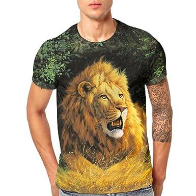 6a07b71905 Amazon.com: vermers Clearance Sale Mens Tops Casual - Fashion Lion ...