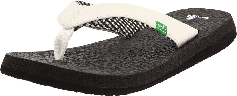 Sanuk Damen Yoga Mat Zehentrenner weiß Pointure