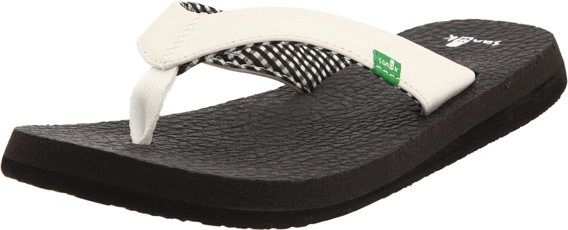 Sanuk Womens Yoga Mat Sandal/Flip Flops/Slipper Footwear, White, Size 10 by Sanuk
