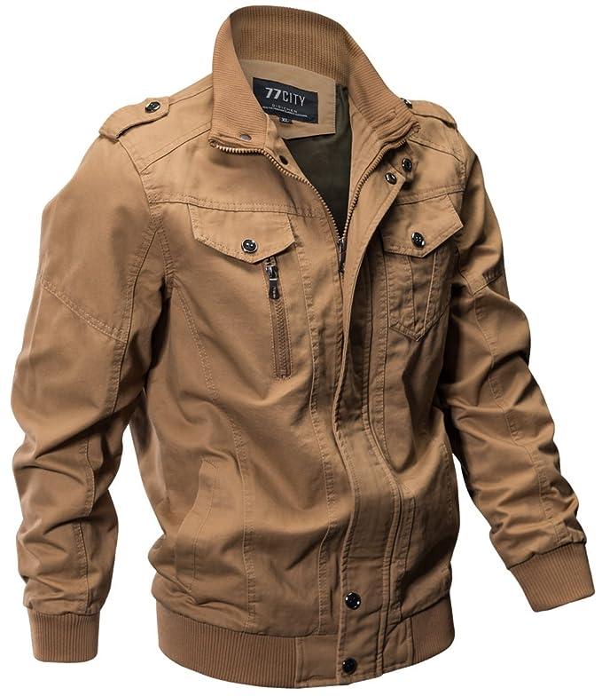 WS668 Homme Printemps Automne Cotton Multi-poche Lavage Manteaux Classique  Mode Vestes Militaires Outdoor Outwear Mens Casual Jackets: Amazon.fr:  Vêtements ...