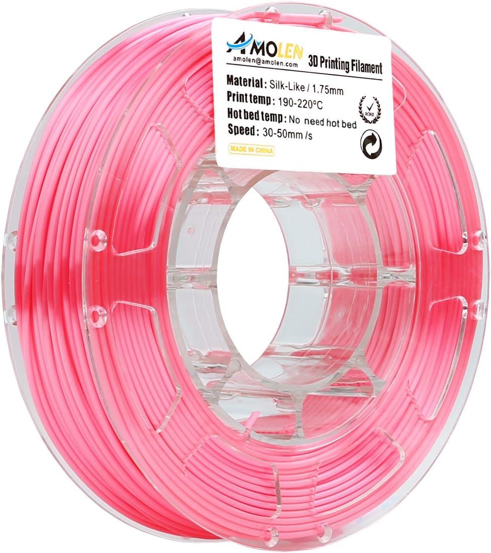Amolen 1.75mm silk like 3d printer filament orange C
