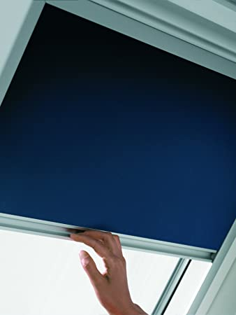 Original velux verdunkelungs rollo dkl pk06 1100s dekor uni blau ...