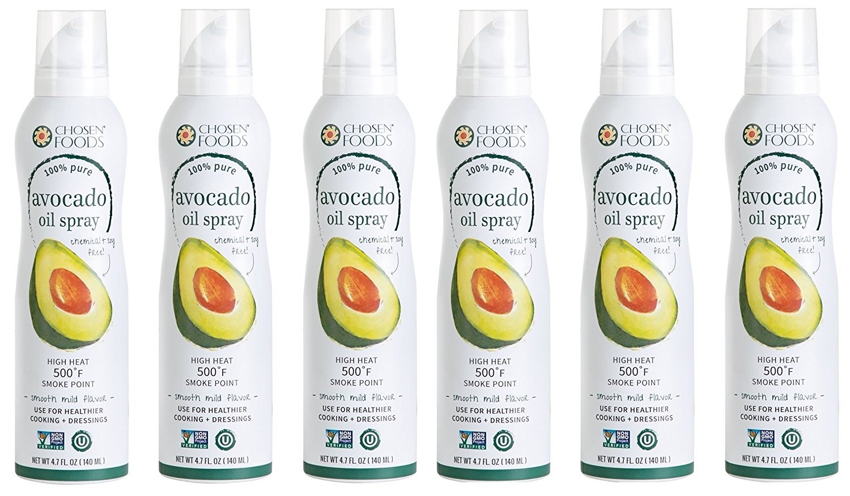 Chosen Foods Avocado Oil Spray, 4.7 Fluid Ounce (6 Bottles)