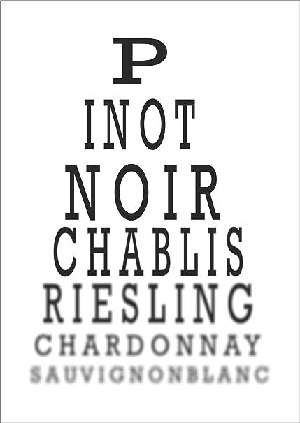 Eye Chart Wine Chart Poster Print A4 Pinor Noir Amazon