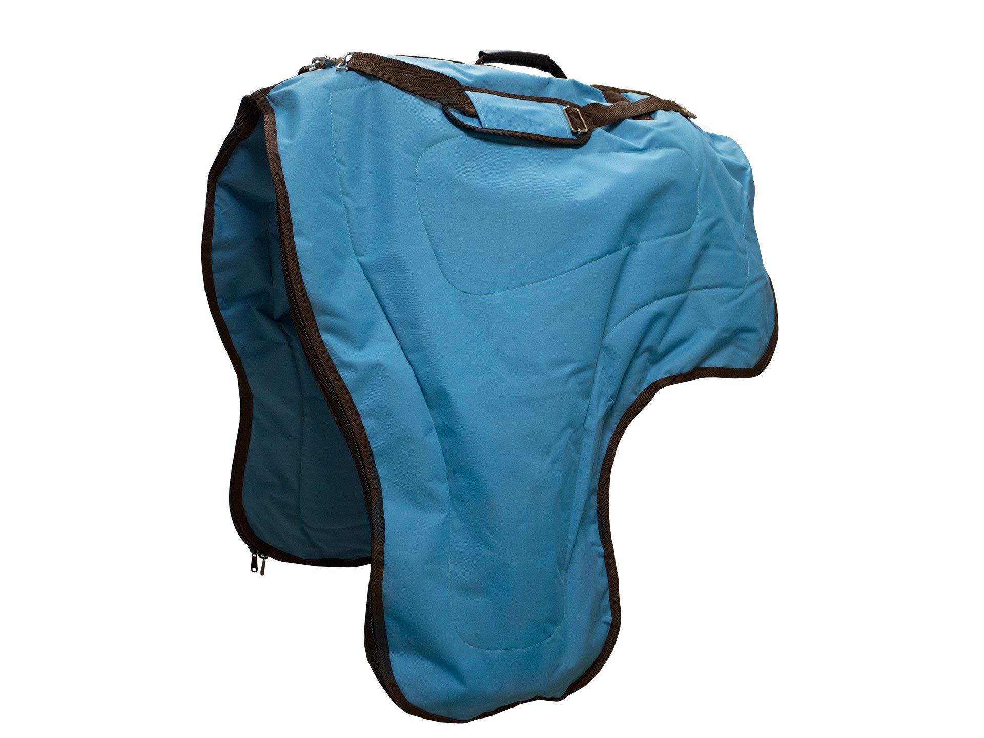 Tahoe Tack 3 Layer Padded Western Horse Saddle Carry Bag Case (Turquoise)